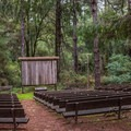 Amphitheater at Henry Cowell Campground.- Henry Cowell Redwoods State Park Campground