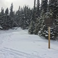 Start of the trail to Lefthand Park Reservoir.- Lefthand Park Reservoir Snowshoe