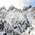 The main wall of the crags.- Castle Dome Snowshoe