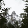 The first view of the Crags.- Castle Dome Snowshoe