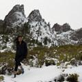Heading back toward the trail.- Castle Dome Snowshoe