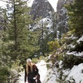 Just entering the open area.- Castle Dome Snowshoe