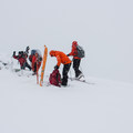 A quick break at the summit and then some skiing- Callaghan Lake Snow Shuttle, Callaghan Country
