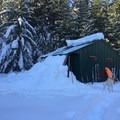 Expect to be overjoyed to reach this hut, get the heat cranking, and remove your skis!- White River Hut Cross-Country Ski