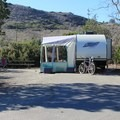 Typical campsite at San Mateo Campground.- San Mateo Campground