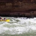 Running House Rock Rapid.- The Grand Canyon of the Colorado River