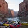 River camp.- The Grand Canyon of the Colorado River