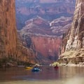 It's not all white water down in the canyon - rapids  are interspersed with jaw dropping flat-water scenery- The Grand Canyon of the Colorado River