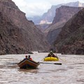 Boating through the Granite Gorge.- The Grand Canyon of the Colorado River