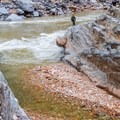 The Clear Creek confluence in Upper Granite Gorge.- The Grand Canyon of the Colorado River