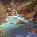 Havasu Creek shows off its sacred beauty.- The Grand Canyon of the Colorado River