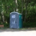 Portable toilets at Lisabuela Park.- Lisabuela Park