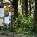 Notification board at Ona Beach boat launch in Beaver Creek Natural Area.- Beaver Creek State Natural Area