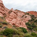 The distinctive geologic features along the Red Rock Canyon Trail.- Borrego Canyon + Red Rock Canyon Trails
