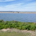View of Fiesta Island.- Mission Bay Bicycle Loop through Crown Point