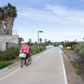 Bridge over Rose Inlet.- Mission Bay Bicycle Loop through Crown Point