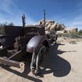 Old car near the Wonderland Ranch.- Wall Street Mill Hike