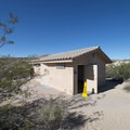 Restroom facility at Cottonwood Campground.- Cottonwood Campground