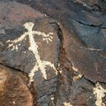 Unique designs can be found throughout the canyon. Search carefully along the hillsides for obscure and hidden petroglyphs.- Petroglyph Canyon