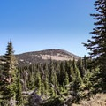 Cache Peak from the lower portion of the Ranger Trail.- Cache Peak + Mount Independence
