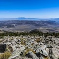 View to the east from the summit of Cache Peak.- Cache Peak + Mount Independence