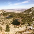 The Independence Lakes from the Cache Peak and Mount Independence saddle.- Cache Peak + Mount Independence