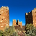 Side view of Hovenweep Castle.- Hovenweep National Monument