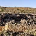 Panorama of some of the dwellings in the Square Tower Unit of Hovenweep.- Hovenweep National Monument