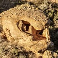 A house built into a rock at Hovenweep National Monument.- Hovenweep National Monument