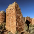 A wall of Hovenweep Castle.- Hovenweep National Monument