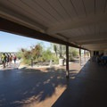 Picnic area and interpretive trailhead at the Oasis Visitor Center.- Oasis of Mara