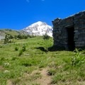 The shelter at McNiel point- Cairn Basin + McNeil Point via the Vista Ridge Trail