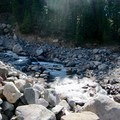 Ladd Creek crossing.- Cairn Basin + McNeil Point via the Vista Ridge Trail