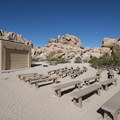 Amphitheater at Indian Cove Campground.- Indian Cove Campground