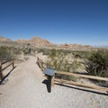 Trailhead for the Indian Cove Nature Trail.- Indian Cove Nature Trail