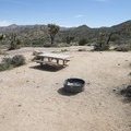 Typical campsite at Black Rock Canyon Campground.- Black Rock Canyon Campground