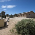 Restroom facilities at Black Rock Canyon Campground.- Black Rock Canyon Campground