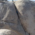 Upper Right Ski Track on Intersection Rock's north face. - Intersection Rock - Climbing Crag
