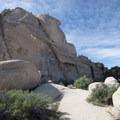 A full view of Intersection Rock's north face.- Intersection Rock - Climbing Crag