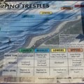 Guide to the surf breaks at Trestles.- Trestles Beach