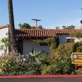 The visitor center is located on the bluffs near the campground.- San Clemente State Beach