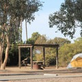 Typical site at San Clemente Beach Campground.- San Clemente State Beach Campground