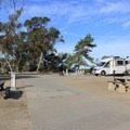 Plenty of sites for RVs.- San Clemente State Beach Campground