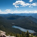 Elk Lake.- Battle Ax Mountain