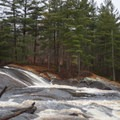 The top tier of the falls.- Lampson Falls