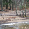 The sandy beach makes a great swimming destination in the summer.- Lampson Falls