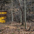 The trail register at the beginning of the hike to Auger Falls.- Auger Falls