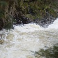 The rapids continue around the bend.- Auger Falls
