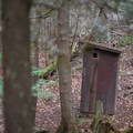 There is also an outhouse at the falls.- Buttermilk Falls