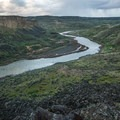 Looking south at Rye Grass from the rim of the river.- Owyhee River: Rome to Birch Creek